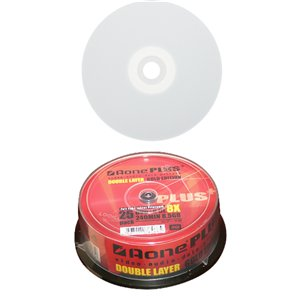 photograph regarding Printable Dvds called Aone White Inkjet Printable 8x DVD+R 8.5GB Twin Layer