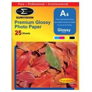 Sumvision Premium Glossy 180gm A4 Photo Paper 25 Pack