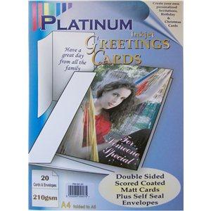 Platinum 210gsm inkjet a4 greeting cards envelopes 20 pack m4hsunfo
