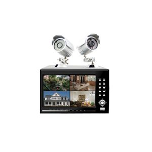 Sumvision Hawkeye CCTV 4 Channel DVR Recorder System with 2 Cameras + Built in LCD