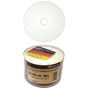 Traxdata Ritek Full Face White Inkjet Printable DVD R 8x 47GB 120 Minutes
